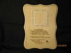 Adopted/Rescue Pet - Adoption Poem Plaque 2 with Picture Frame