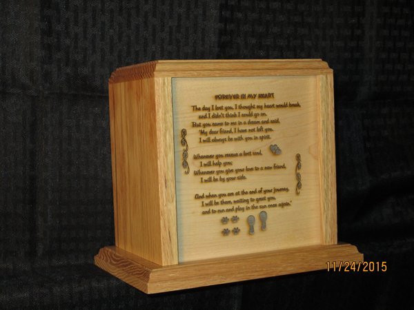 Loss of Pet Urn with Memorial Poem