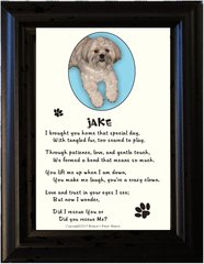 Adopted Pet - Picture Frame with Poem