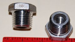 "908 Stainless Steel 1/4"" to 1/8"" Hex Reducing Bushing"