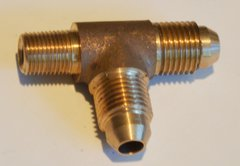 645-5 Tee - Form 5 (2 male flare and 1 NPT male fitting)