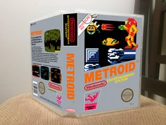 Metroid NES Game Case with Internal Artwork