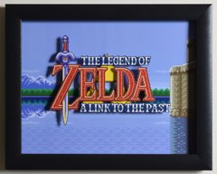 """Legend of Zelda: A Link to the Past (SNES) - """"Title Screen"""" 3D Video Game Shadow Box with Glass Frame 10 x 12.5 inches"""
