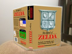Legend of Zelda (The) GOLD CARTRIDGE NES Game Case with Internal Artwork