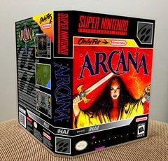 Arcana SNES Game Case with Internal Artwork