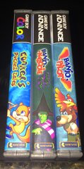 Banjo-Kazooie and Conker Gameboy Case Lot WITH CUSTOM SPINES!!!