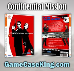 Confidential Mission Sega Dreamcast Game Case