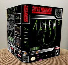 Alien 3 SNES Game Case with Internal Artwork