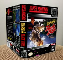 Bassin's Black Bass with Hank Parker SNES Game Case with Internal Artwork