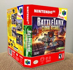 BattleTanx: Global Assault N64 Game Case with Internal Artwork