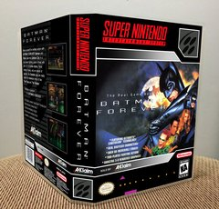 Batman Forever SNES Game Case with Internal Artwork