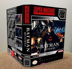 Batman Returns SNES Game Case with Internal Artwork