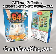 64 Trump Collection: Alice no Waku Waku Trump World N64 Game Case