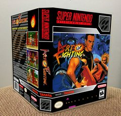 Art of Fighting SNES Game Case with Internal Artwork