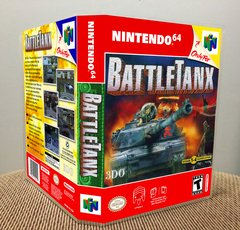 BattleTanx N64 Game Case with Internal Artwork