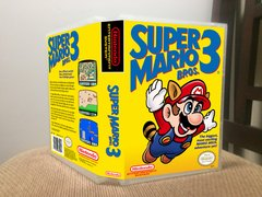 Super Mario Bros. 3 NES Game Case with Internal Artwork