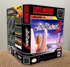 ActRaiser 2 SNES Game Case with Internal Artwork
