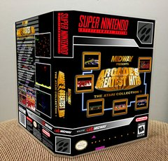 Arcade's Greatest Hits: The Atari Collection 1 SNES Game Case with Internal Artwork