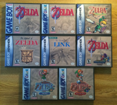 Legend of Zelda 8 Case Gameboy Lot