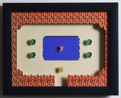 """Legend of Zelda (NES) - """"The Fairy"""" 3D Video Game Shadow Box with Glass Frame 10 x 12.5 inches"""