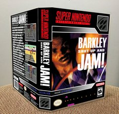 Barkley Shut Up and Jam! SNES Game Case with Internal Artwork