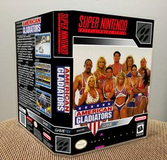 American Gladiators SNES Game Case with Internal Artwork