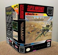 A.S.P. Air Strike Patrol SNES Game Case with Internal Artwork