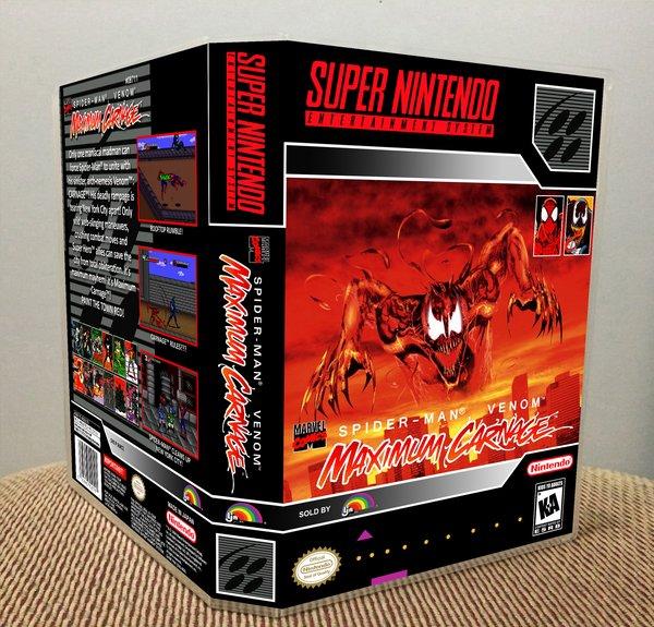 Spider-Man and Venom: Maximum Carnage SNES game case ...  Maximum Carnage Game