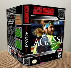 Andre Agassi Tennis SNES Game Case with Internal Artwork