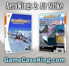 AeroWings 2: Air Strike Sega Dreamcast Game Case