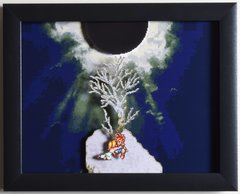 """Chrono Trigger (SNES) - """"Death Peak"""" 3D Video Game Shadow Box with Glass Frame 10 x 12.5 inches"""