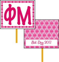 Phi Mu Bid Day Hand Fan