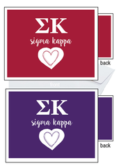 Sigma Kappa Letter Notecards