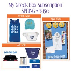 My Greek Box Subscription • Spring • Delta Delta Delta