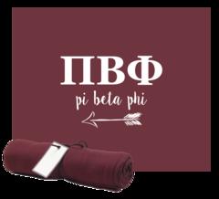 Pi Beta Phi Sweatshirt Blanket