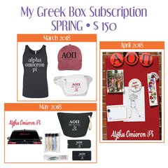 My Greek Box Subscription • Spring • Alpha Omicron Pi