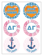 Delta Gamma Sticker Sheet