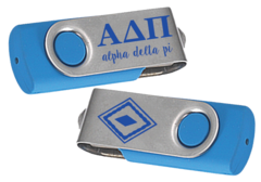 Alpha Delta Pi Swivel USB Flash Drive