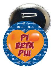 Pi Beta Phi Heart Button