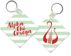 Alpha Chi Omega Key Chain