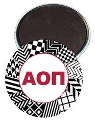 Alpha Omicron Pi Letters Magnet