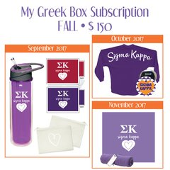 My Greek Box Subscription • Fall • Sigma Kappa
