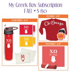 My Greek Box Subscription • Fall • Chi Omega