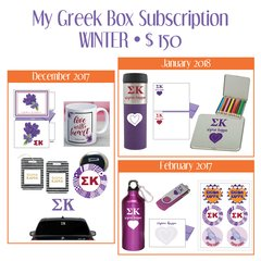 My Greek Box Subscription • Winter • Sigma Kappa