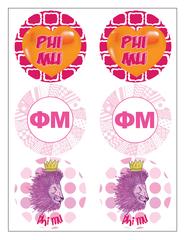 Phi Mu Sticker Sheet
