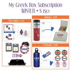 My Greek Box Subscription • Winter • Pi Beta Phi