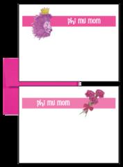 Phi Mu Mom Logo Postcards