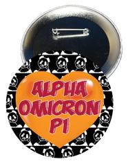 Alpha Omicron Pi Heart Button