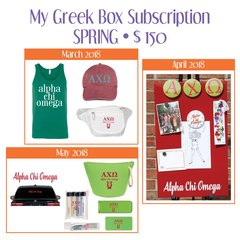 My Greek Box Subscription • Spring • Alpha Chi Omega