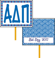 Alpha Delta Pi Bid Day Hand Fan